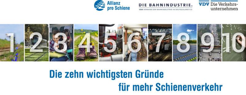 Cover: Die 10 wichtigsten Gründe für mehr Schienenverkehr 2016