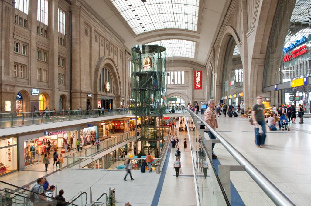 Geschäfte im Bahnhof Leipzig