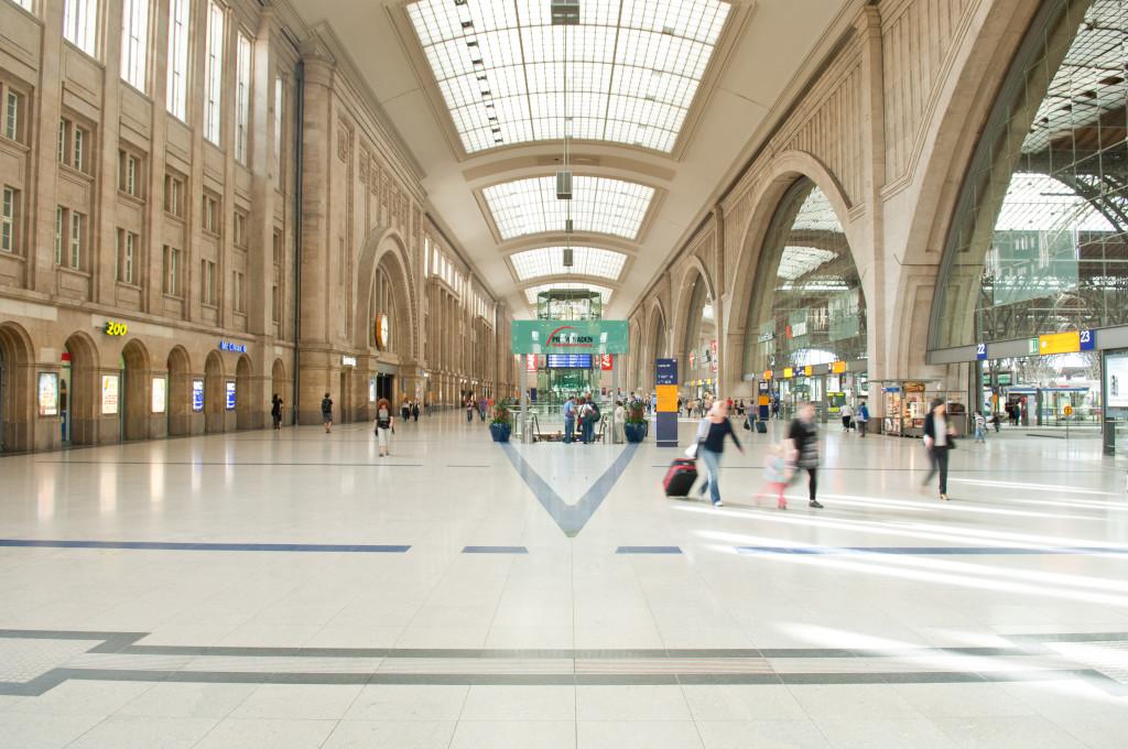 Halle im Leipziger Hauptbahnhof