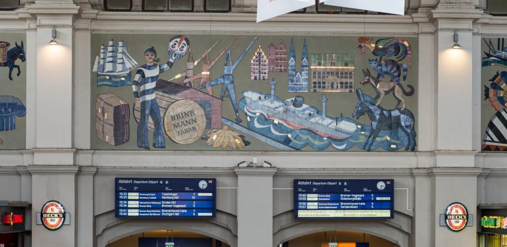 Wandmosaik mit den Bremer Stadtmusikanten