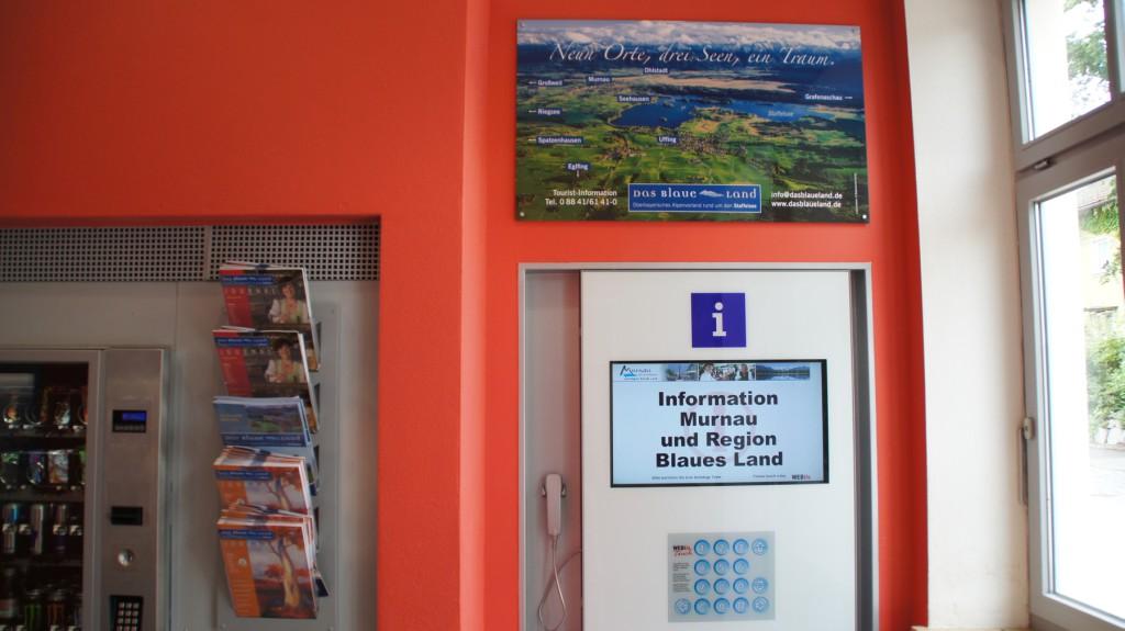 Automat gibt auf Knopfdruck Informationen zu Land und Leuten aus