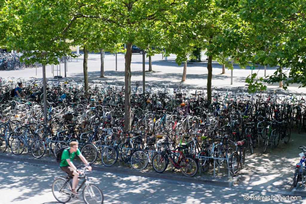 Bügel und neue Abstellanlagen für Fahrräder am Bahnhof Göttingen