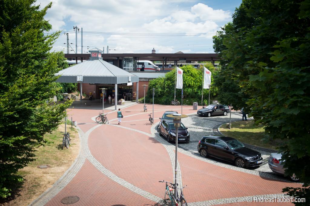 Der Bahnhof Göttingen von der Rückseite