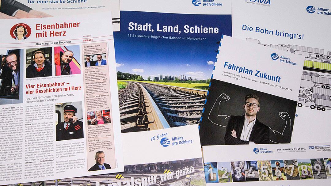 Publikationen Allianz pro Schiene
