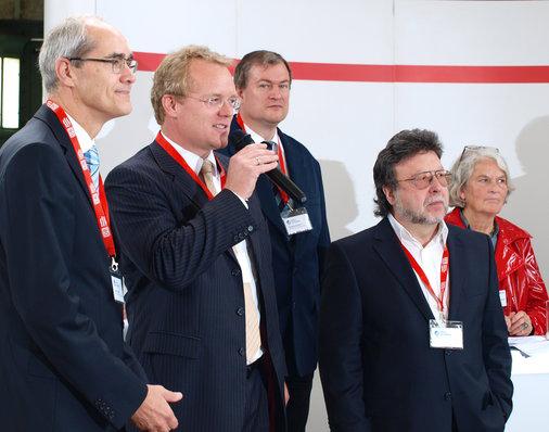 Oberster Herr aller Bahnhöfe: André Zeug (links)