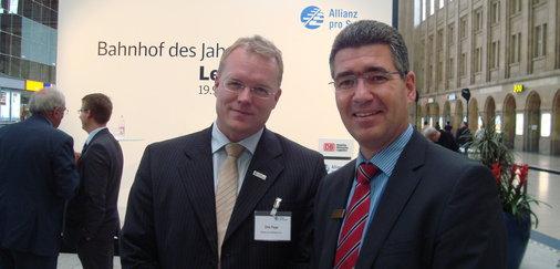 Centermanager Stefan Knorr und Dirk Flege