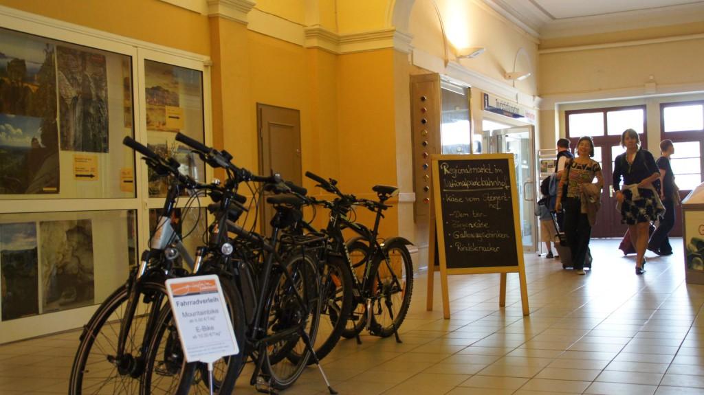 Fahrradverleih im Bahnhof Bad Schandau