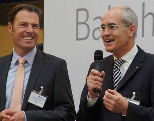Vorstandsvorsitzender André Zeug ist von der guten Stimmung und vom kollegialen Miteinander zwischen Investor, Stadt und DB angetan