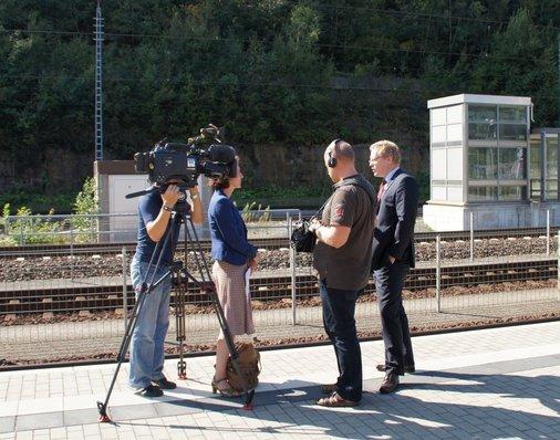 MDR-Team mit Dirk Flege, Allianz pro Schiene
