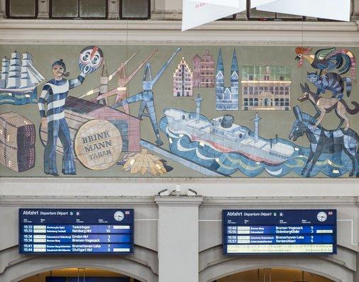 Fassadengestaltung im Bahnhof Bremen