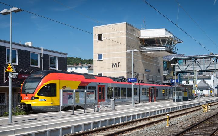 Eisenbahn im Marburger Bahnhof