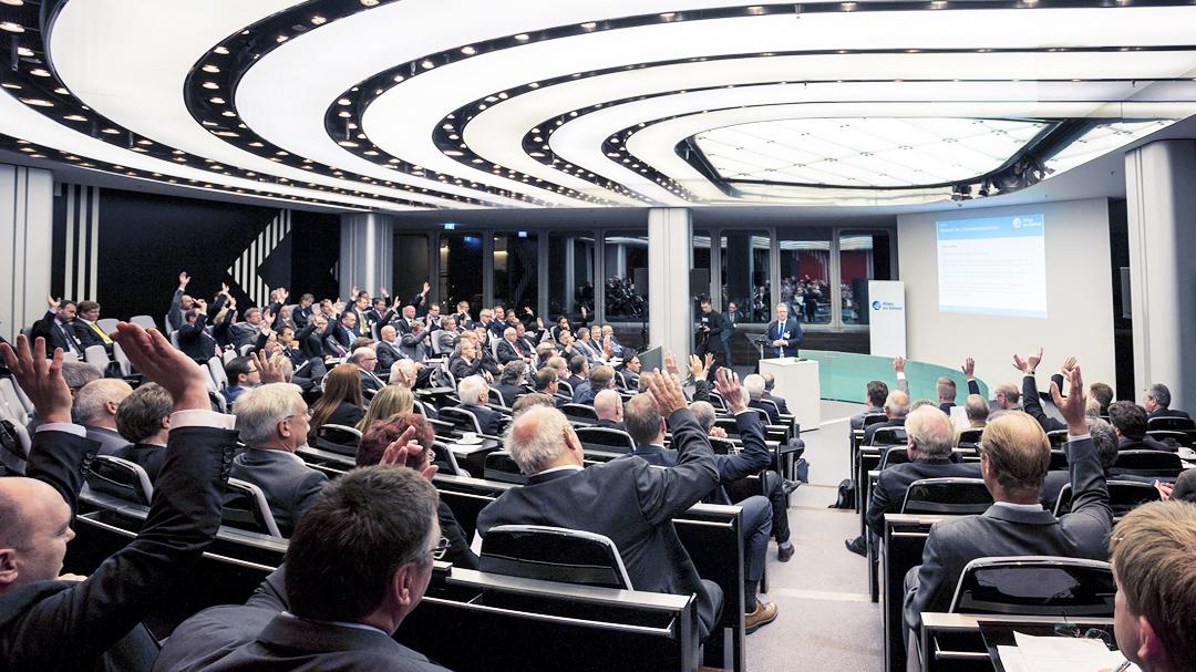 Versammlung, Saal, Allianz pro Schiene
