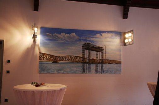 Gemälde Karniner Eisenbahnbrücke