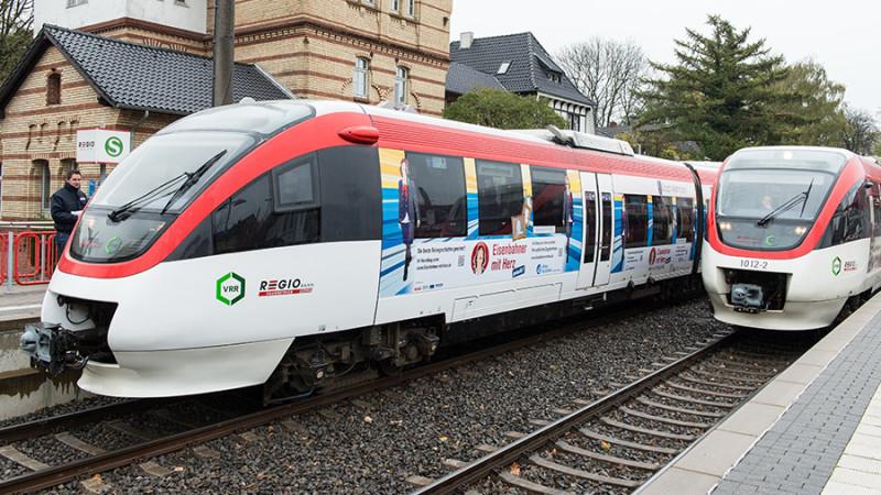 Erfolgreiche NE-Bahnen: Die Regiobahn in Mettmann gehört zu Deutschlands erfolgreichsten Bahnen. Der weitere Ausbau des Nahverkehrs hängt nun von den Verhandlungen zwischen Bund und Ländern ab.