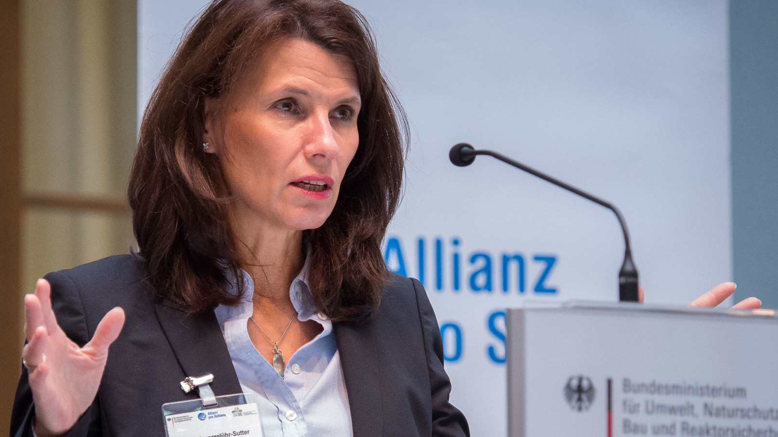Bahn und Lkw: Rita Schwarzelühr-Sutter bei ihrer Rede vor dem Fachkongress Kombinierter Verkehr