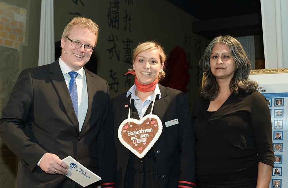 Eisenbahner mit Herz 2016 - Sieger-Gala - Feilke DB Landessiegerin Hamburg