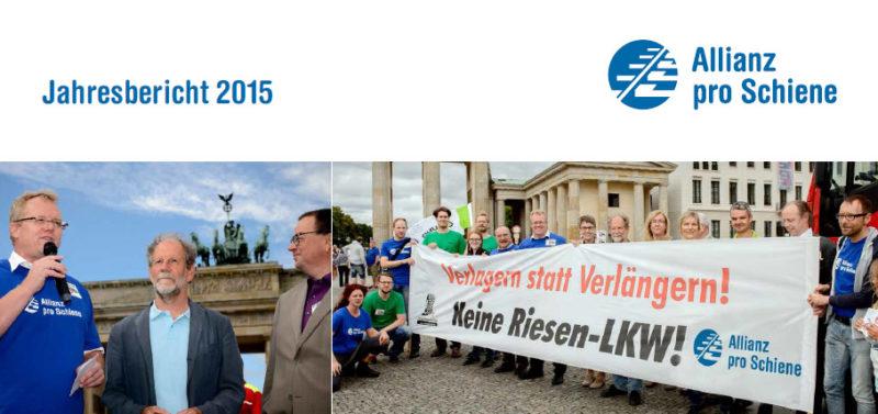 Jahresbericht 2015 - Allianz pro Schiene