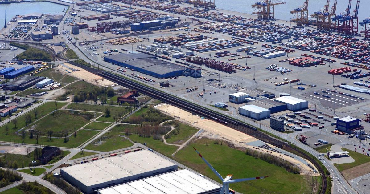 Förderung durch CEF: Der Hafenbahnhof Bremerhaven am Imsumer Deich