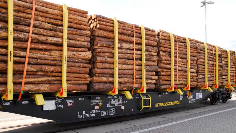 Der neue Rundholzwagen von Mercer Holz und Transwaggon: Leichter, leiser und effizienter