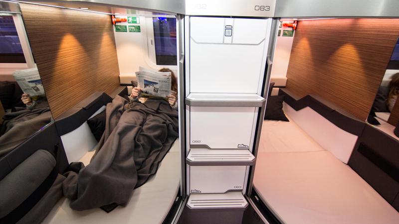 Nachtzug der ÖBB (ÖBB Nightjet): Ein Schlafabteil mit zwei Betten