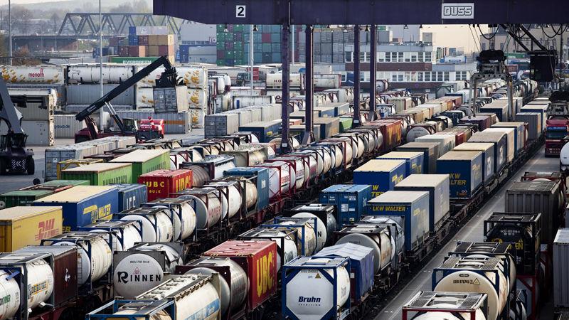 Ein Güterterminal: Längere Güterzüge beschleunigen auch die Verkehrsverlagerung.