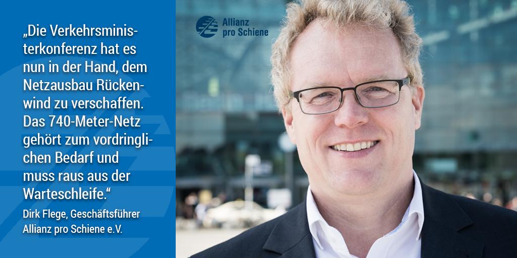 Appell für 740-Meter-Züge: Dirk Flege, Geschäftsführer der Allianz pro Schiene