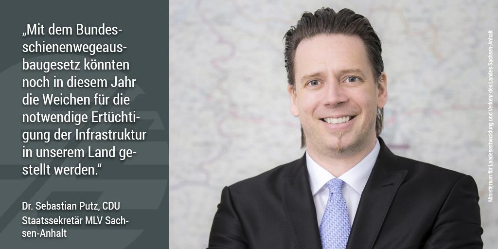 Sebastian Putz, Staatssekretär für Verkehr Sachsen-Anhalt