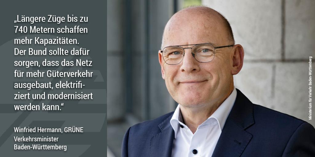 740-Meter-Netz, Winfried Hermann, Verkehrsminister Baden-Württemberg
