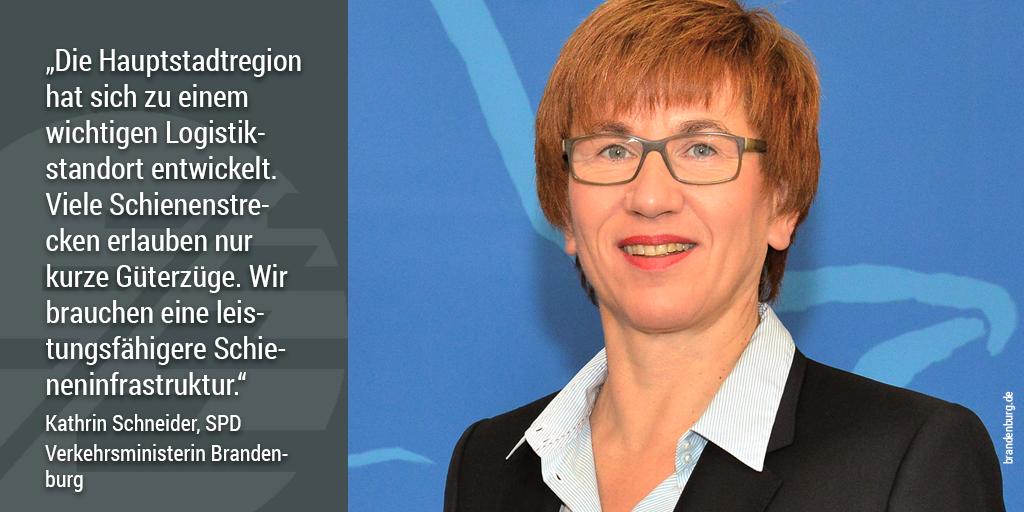 740-Meter-Netz, Kathrin Schneider, Verkehrsministerin Brandenburg