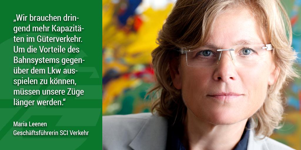 Appell für 740-Meter-Züge: Maria Leenen, Geschäftsführerin SCI Verkehr