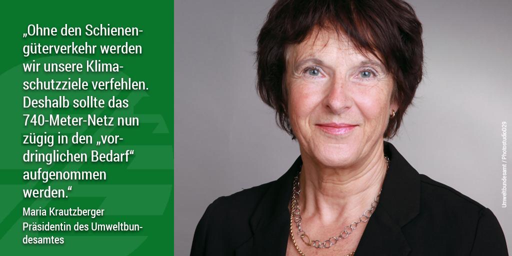 Appell für 740-Meter-Züge: Maria Krautzberger