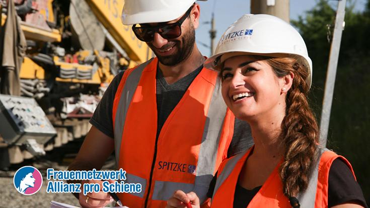 Handav Ahmed, Bauleiterin beim Gleisbauer Spitzke SE