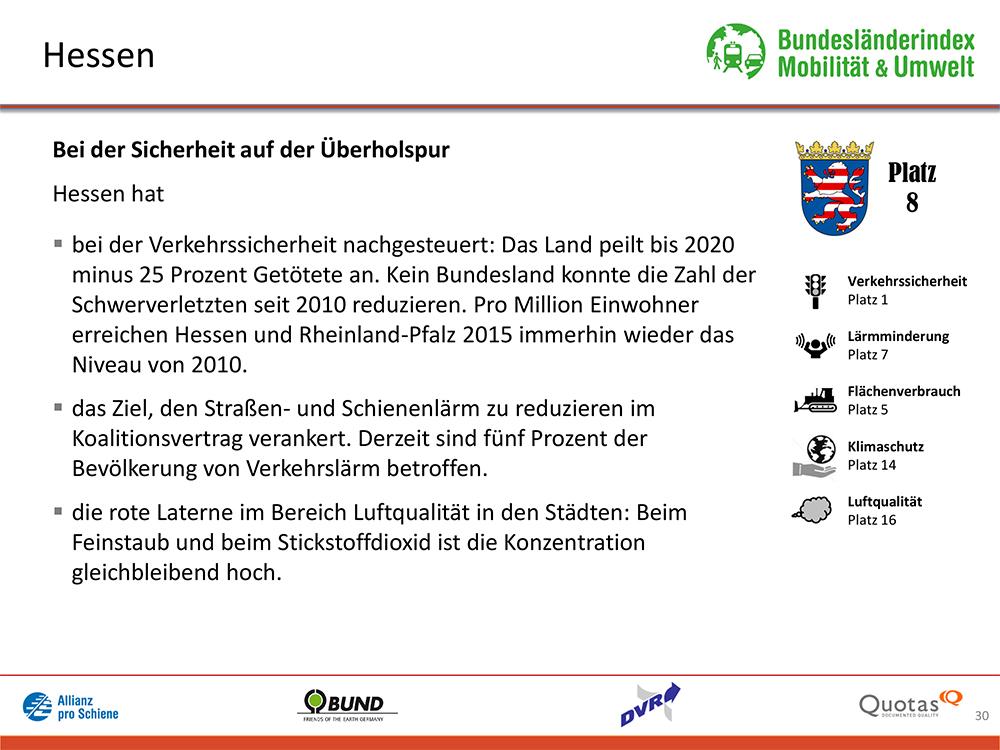 Bundesländer-Index Mobilität und Umwelt 2016/17 Platz 8