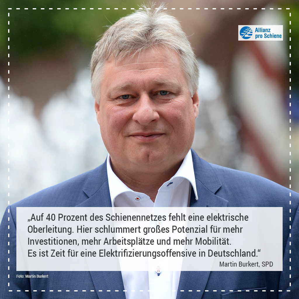Elektrifizierung Martin Burkert, SPD