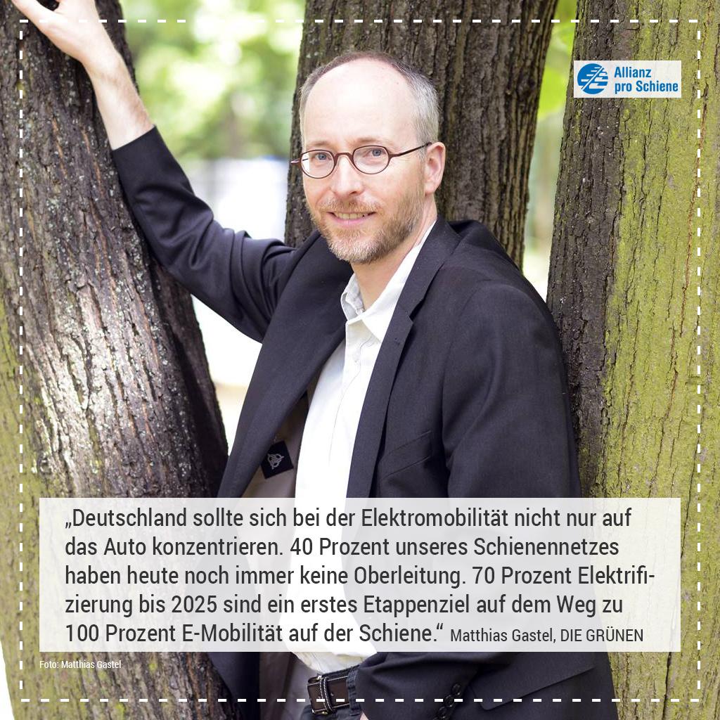 Elektrifizierung Matthias Gastel, DIE GRÜNEN