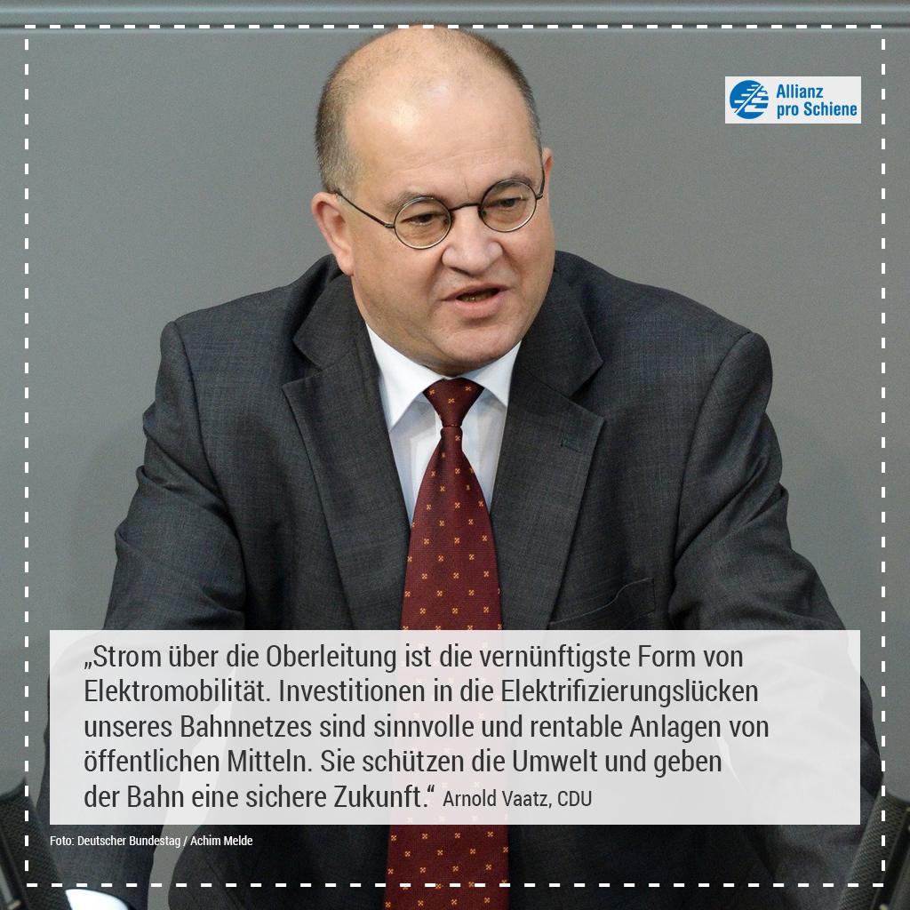 Elektrifizierung Arnold Vaatz, CDU