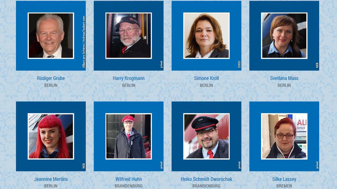 Eisenbahner mit Herz 2017: Alle 60 Titelkandidaten auf einen Blick