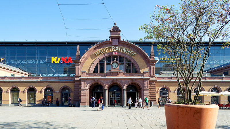 Der Bahnhof Erfurt / Erfurt Hauptbahnhof