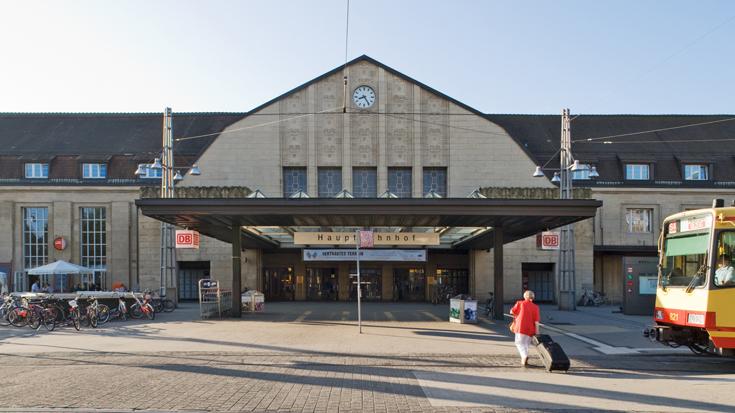 Der Bahnhof Karlsruhe / Karlsruhe Hauptbahnhof