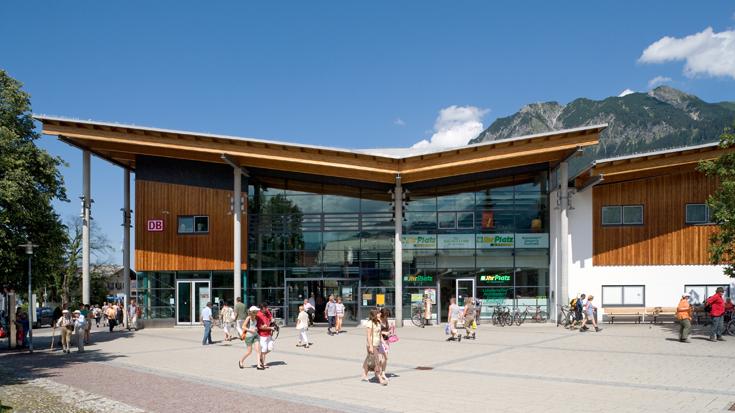 Der Bahnhof Oberstdorf in Bayern