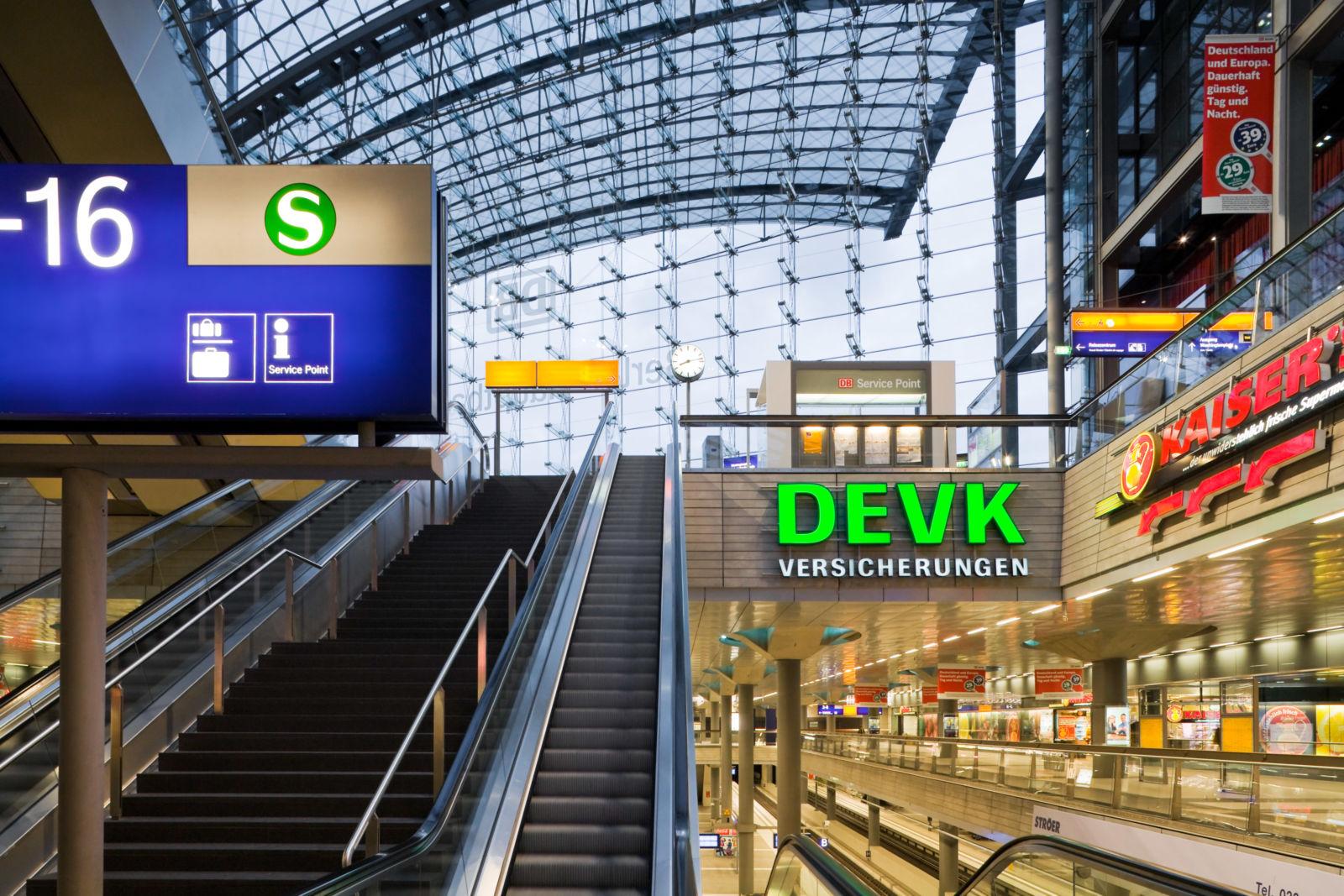 Die Zwischenebene im Hauptbahnhof Berlin