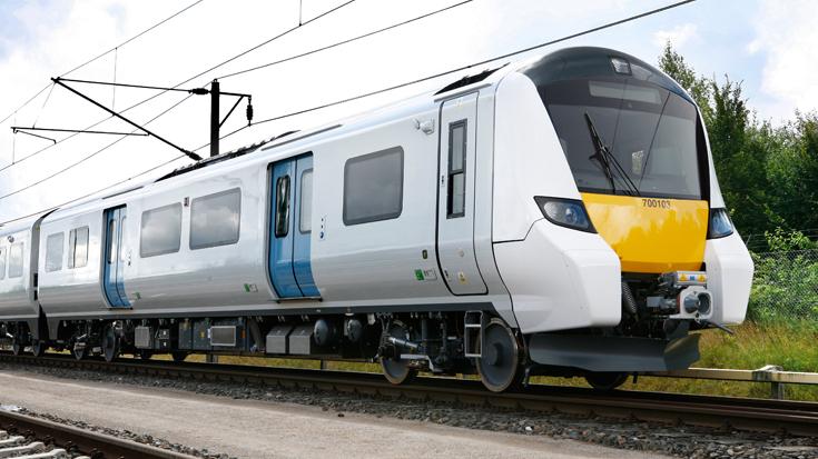 Platz für 1.750 Fahrgäste: Der neue Siemens-Zug für das Thameslink-Netz. Per ATO fährt der Zug auf einigen Streckenabschnitten im automatisierten Betrieb.