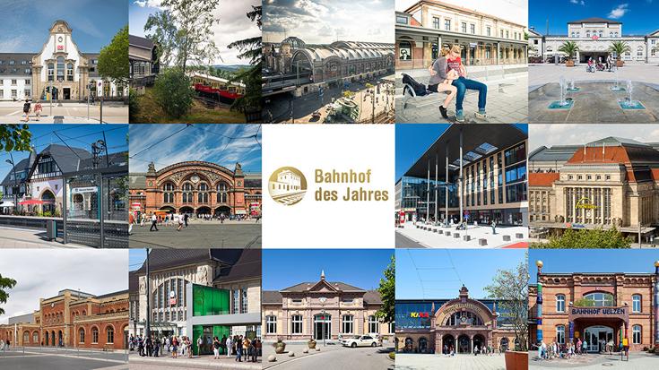 Der Bahnhof des Jahres wird jährlich von der Allianz pro Schiene gewählt.