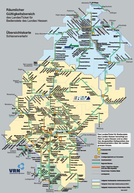 Gültigkeitsbereich Hessen Landesticket
