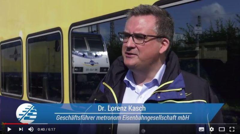 Dr. Lorenz Kasch im Erklärvideo der Allianz pro Schiene zum Thema Elektromobilität