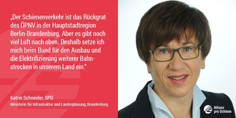 Katrin Schneider sieht Nachholbedarf bei der Elektrifizierung der Schiene (Allianz pro Schiene)