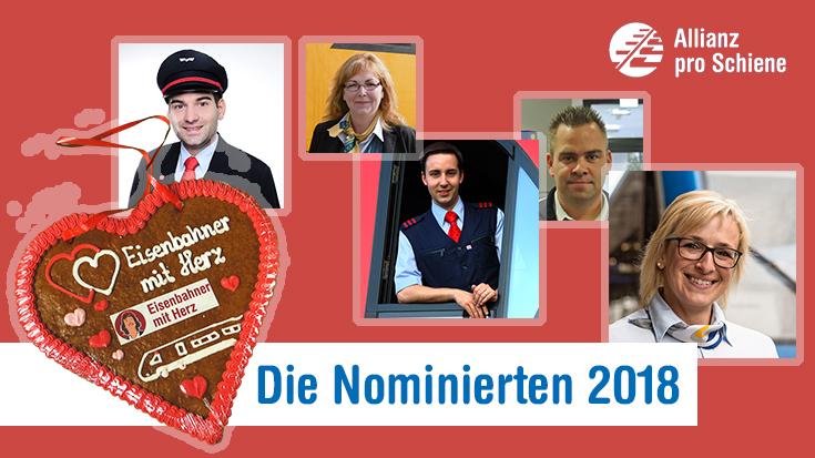 Eisenbahner mit Herz: Die Galerie der Helden. Die ersten Nominierten für den Wettbewerb sind online.