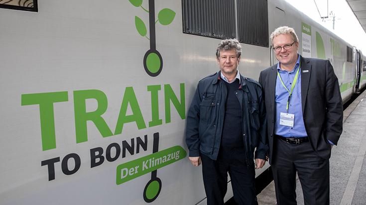 Lokführer Arne Siewert spricht mit der Allianz pro Schiene über den Train to Bonn