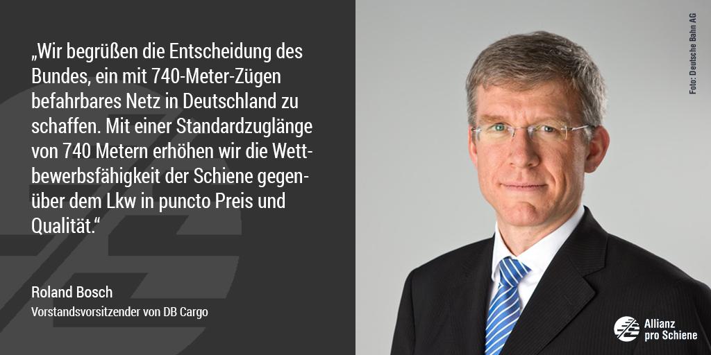 Bahn frei für 740-Meter-Netz: Roland Bosch von DB Cargo freut sich.
