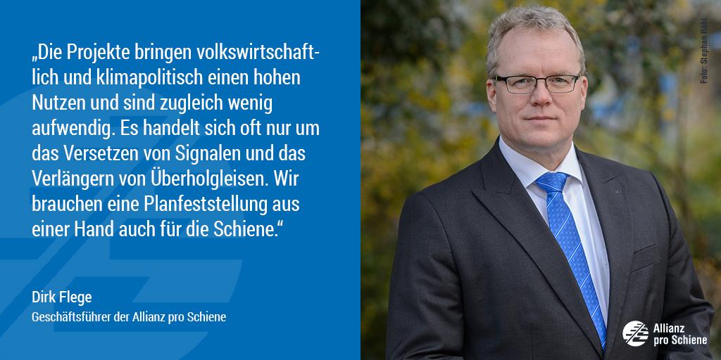 Bahn frei für 740-Meter-Netz: Dirk Flege von der Allianz pro Schiene freut sich.